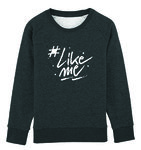 #LikeMe - Logo - Dark Heather Grey Kinder Sweater