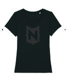 "Nerdland - Black ""Logo"" Woman Shirt"