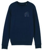 """Maurice Lambrecht – French Navy """"Rainbow"""" Sweater"""