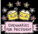 Eva Mouton - OvenHapjes for President (Heather Grey)