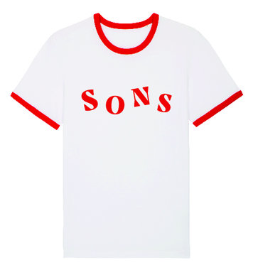 SONS - White Red Unisex