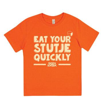 Eat Your Stutje Quickly (Orange kids shirt)