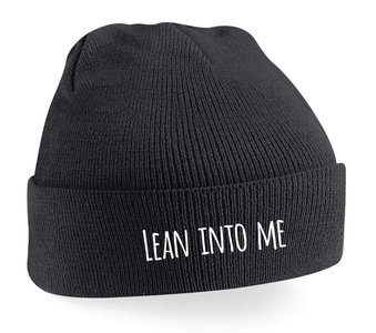 "Milow - Black ""Lean Into Me"" Beanie"