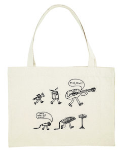 "Milow - Naturel ""Lean Into Me"" Shopper Bag"