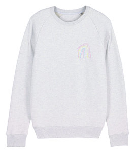 "Maurice Lambrecht – Cream Heather Grey ""Rainbow"" Sweater"