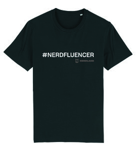 "Nerdland - Black ""Nerdfluencer"" Shirt"