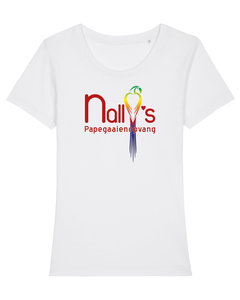 "Nally's Papegaaienopvang - White ""Nally's"" Girls Shirt"