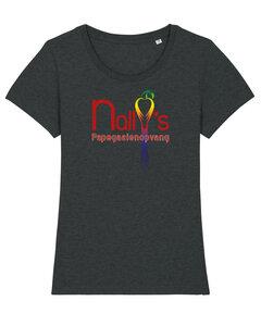 "Nally's Papegaaienopvang - Dark Heather Grey ""Nally's"" Girls Shirt"
