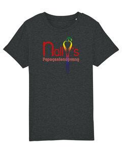"Nally's Papegaaienopvang - Dark Heather Grey ""Nally's"" Kids Shirt"