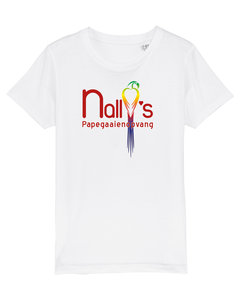 "Nally's Papegaaienopvang - White ""Nally's"" Kids Shirt"