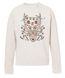 Eva Mouton - Hert (Kids Cream Heather Grey)