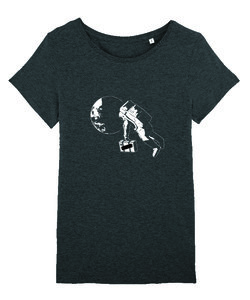 "Milow - Dark Heather Grey ""Astronaut"" Women's T-shirt (New)"