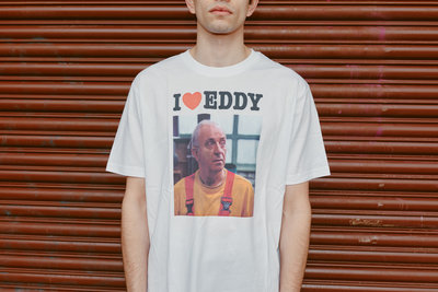 """Thuis - Wit baggy """"Eddy"""" T-shirt"""