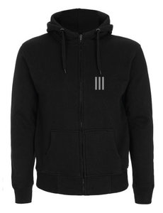 Bazart - Black Unisex Hooded Zipper (front)