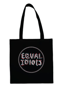 Equal Idiots - Black Cotton Bag