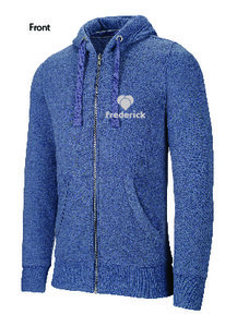 Hartekamp - Girls Hooded Zipper - Blue Heather