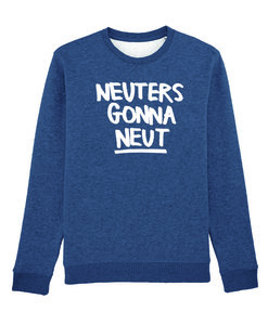 Eva Mouton - Neuters Gonna Neut (Dark Heather Blue)