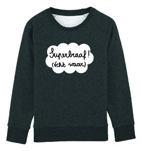 Eva Mouton - Superbraaf! (Kids Dark Heather Grey)