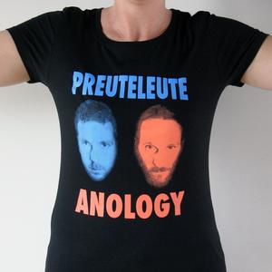 "Preuteleute - Black ""Anology"" Womens T-shirt"