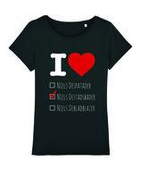 """Niels Destadsbader - Black """"I Love"""" Girls shirt"""