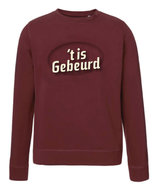"De Slimste Mens - Burgundy ""'t is gebeurd"" Sweater"