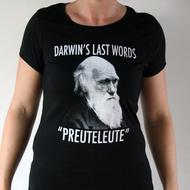 "Preuteleute - Black ""Darwin"" Womens T-shirt"
