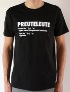 """Preuteleute - Black """"Preuteleute"""" T-shirt"""